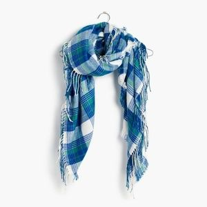 NWT Madewell scarf blue plaid